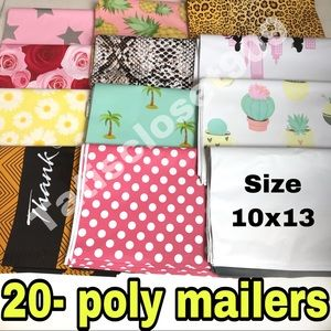 20 assorted  poly mailers size 10x13